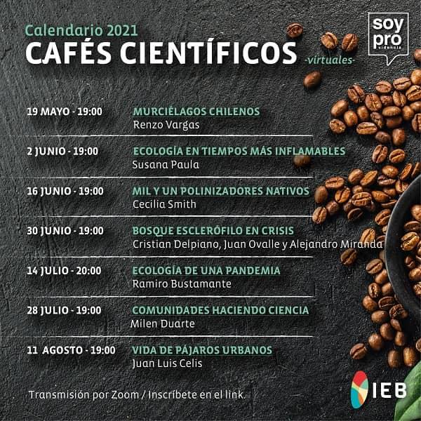 Cafés Científicos del Instituto de Ecología y Biodiversidad